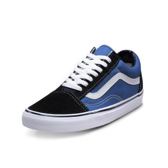 Harga Fashion Brand Unisex Old Skool Navy Blue Classic Skate Shoe(blue) - intl