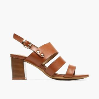 Harga Parisian Ladies Pippa Block-Heeled Sandals (Tan)