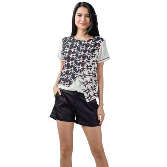 Harga Plains & Prints Norcross Short Sleeves Top (Multi)