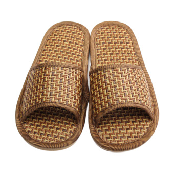 Harga Natural Linen Summer Cool Indoor Slippers (Brown) (Intl)