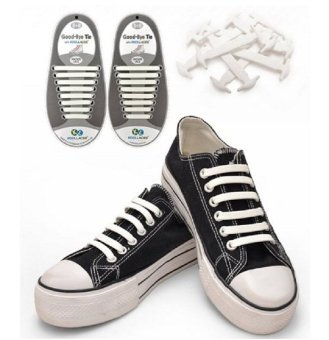 Harga Koollaces No Tie Silicone Laces White