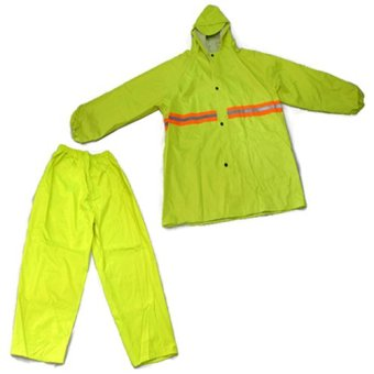 Harga MMC H-908 Water Proof Outdoor Jacket and Pants Rain Coat (Neon Green)