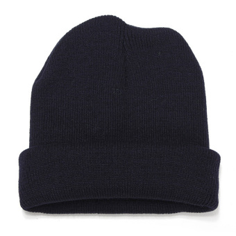 Harga Unisex Knitted Plain Beanie Hiphop Cap Skull Cuff Winter Hat Crochet Solid Color - Intl