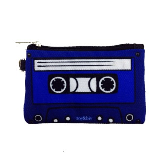 Harga Roy & Biv Cassette Coin Purse (Blue)