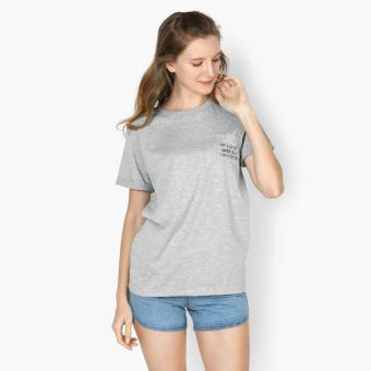 "Harga GTW Urban ""Try A Little Harder, Be A Little Better"" Statement Tee (Light Gray)"
