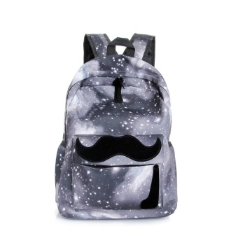 Galaxy Pattern Unisex Travel Backpack Canvas Leisure Bags School Bag Gray - intl Price Philippines