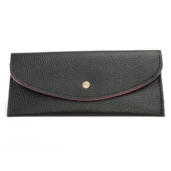 Lichee Pattern Long Purse Candy PU Leather Coin Card Holder Black Price Philippines