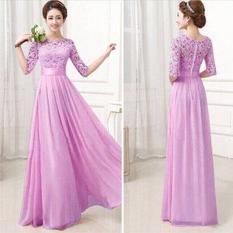 Long Bridesmaid Prom Gown Party Cocktail Prom Dress Purple Price Philippines