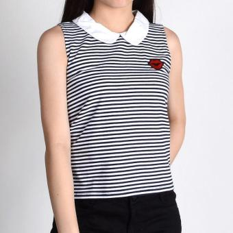Harga Redgirl Sleeveless Blouse Rgt06-0157 (Navy Blue)