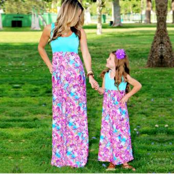Harga Christmas Family Matching Clothes Mother Daughter Dresses(Kids) - intl