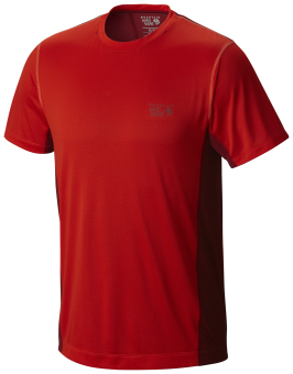 Harga Mountain Hardwear Men's Wicked Lite Short Sleeve T with Wick.Q (Fiery Red)