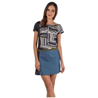 Harga Plains & Prints Irya Short Sleeves Dress (Multi)