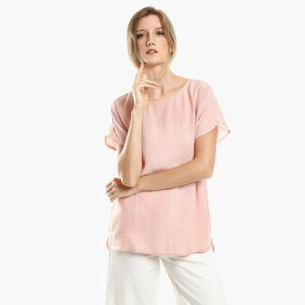 Harga SM Woman Linen Cap-Sleeved Top (Old Rose)