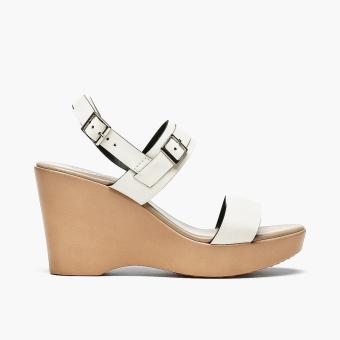 Harga Parisian Ladies Robi Wedge Sandals (White)