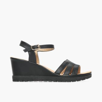 Harga Parisian Comfy Ladies Niya Wedge Sandals (Black)