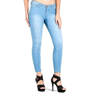 Harga PENSHOPPE Mid-Rise Powerstretch Skinny Fit Jeans (Powder Blue)