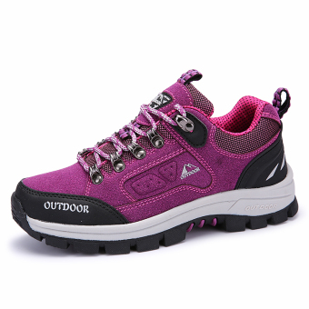 Harga Womens Hiking Shoes Mountain Climbling Shoes Purple