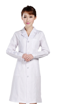 Harga EOZY Fashion Profession Women's Knee Length Cotton Lab Coat Doctor Clothes Nurse Uniform (White) - intl