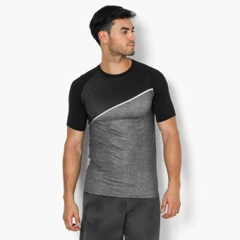 Harga Bo Athletics Asymmetrical Mens Performance Top (Black)