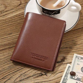 Wallet men genuine leather men wallets purse short male clutch leather wallet mens Baellerry brand money bag(black,brown) - intl Price Philippines