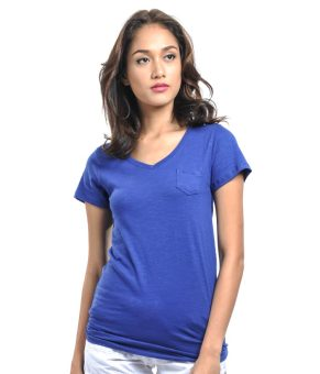 Harga Bench V Neck Ladies Undershirt (Royal Blue)
