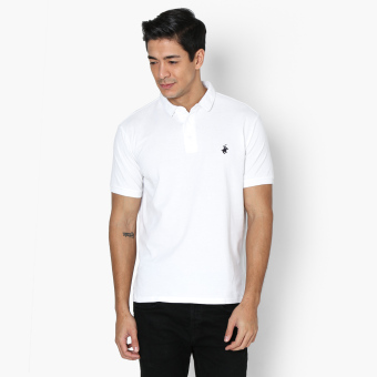 Harga Beverly Hills Polo Club Mens Pique Polo Shirt (White)