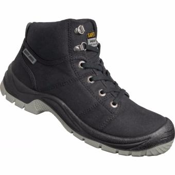 Safety Jogger Desert S1P High Cut Safety Shoes Work Boot Footwear Steel Toe Oil Resist anti-slip ( Black ) Price Philippines