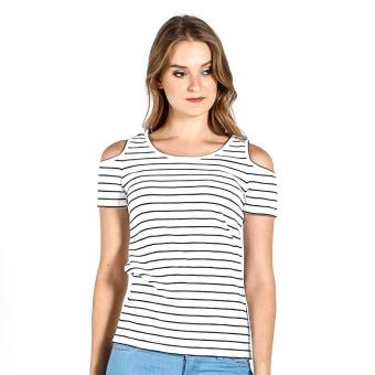PENSHOPPE Cut Out Shoulder (White) Price Philippines