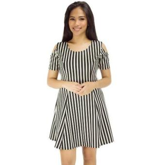 Becky Cold Shoulder Stripes Dress Price Philippines