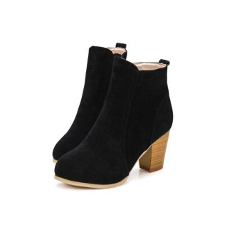 Harga Autumn Winter Boots With High Heels Boots Shoes Martin Boots Women Ankle - intl