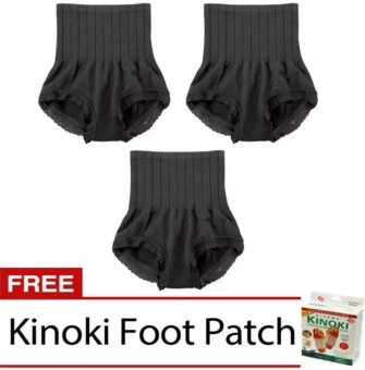 Munafie Slimming Panty (Black) Set of 3 with Free Kinoki Price Philippines