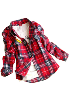 Flannel Loose Shirt (Red) Price Philippines