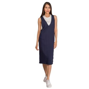 Harga Plains and Prints Ombree Jumper Dress (Navy)