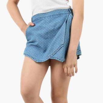 Just Jeans Girls Dotted Origami Chambray Skort (Blue) Price Philippines
