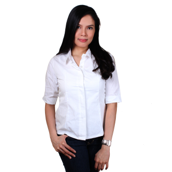 Holy Fashionable Ladies Formal Shirt (White) Price Philippines