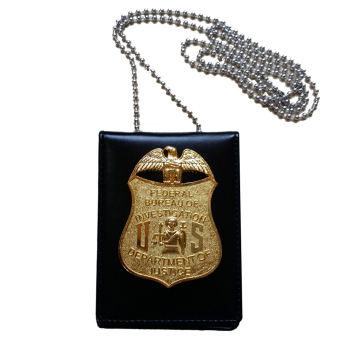 Harga USA FBI Dept Officer Special Agent Badge Card ID Cards Holder Collection
