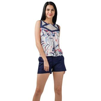 Harga Plains and Prints Marshel Sleeveless Top (Multi)