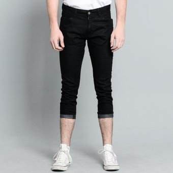 PENSHOPPE Cropped Jeans (Black) Price Philippines