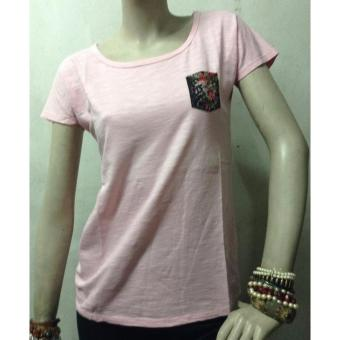 DEWBERRY CHYLA LADIES POCKET TEE (CANDY PINK) Price Philippines