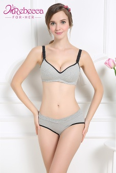 Rebecca For Her Womens Nursing Bra, Breastfeeding Bra, Pregnant Bra (GREY) Price Philippines