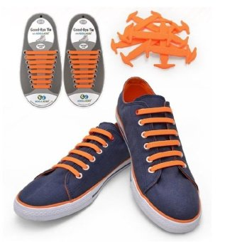 Harga Koollaces No Tie Silicone Laces Orange