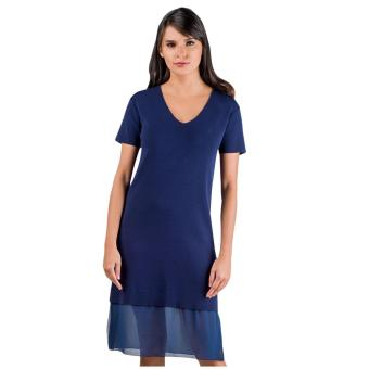 Plains & Prints Marco Short Sleeves Dress (Navy) Price Philippines