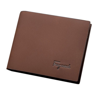 Wallets Matte Leather Mens Wallet Short Paragraph Fashion Men Bags (Brown) Price Philippines