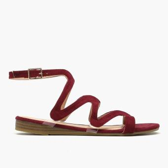 Harga Parisian Ladies Lina Flat Sandals (Maroon)