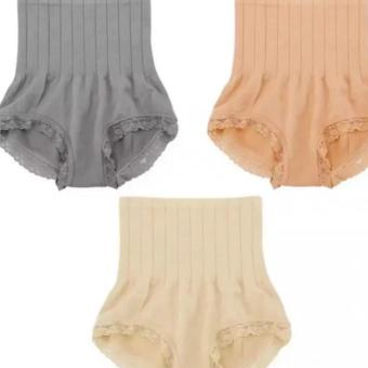 Harga QF Munafie Slimming Panty Set of 3 (Beige, Nude, Gray)