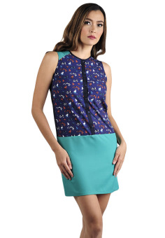 Harga Plains & Prints Hoffmann Sleeveless Dress (Multicolor)