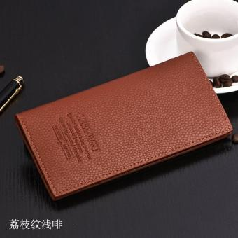 Men casual korean style long wallet 260 color brown - intl Price Philippines