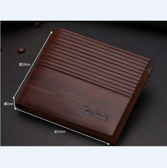 Fang Fang Men Wallet Genuine Leather Purses- light coffee Price Philippines