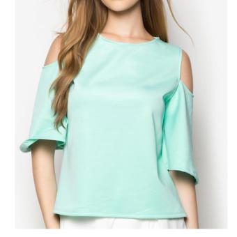 Fashion Haus Arci Key Shoulder Blouse-(Green) Price Philippines