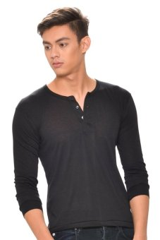 Harga Tex-Cock Long Sleeves Camisa de Chino (Black)